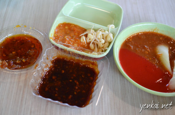 Various sambal and sauces