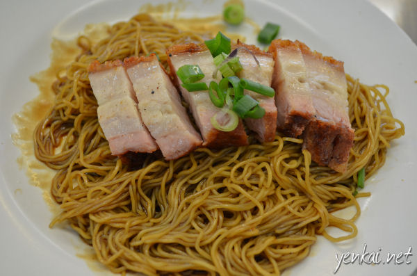 Siew Yoke on noodles. Siew Yoke is good but there's nothing special about the noodles.