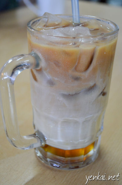 3 layered Teh C Ping to wash it down