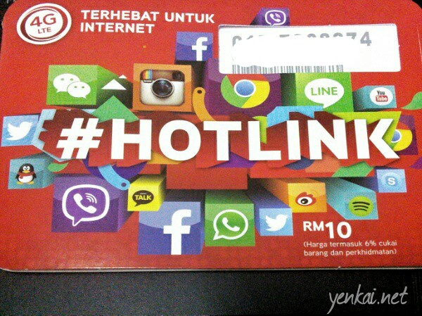Maxis Hotlink – prepaid data for travelers