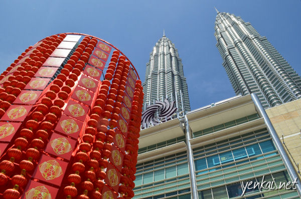 Chinese New Year deco at KLCC
