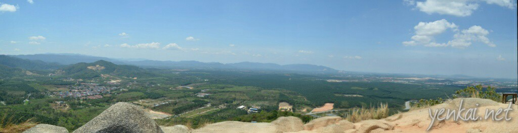 The panoramic view from the peak