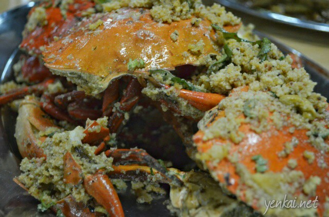 Salted egg yolk crab. The crabs were very fresh but the egg yolk sauce was too dry and bland