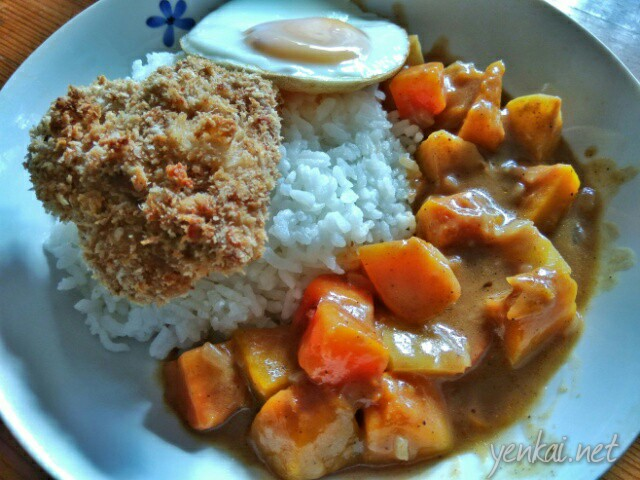 Breakfast chronicles – chicken Katsu with Japanese curry