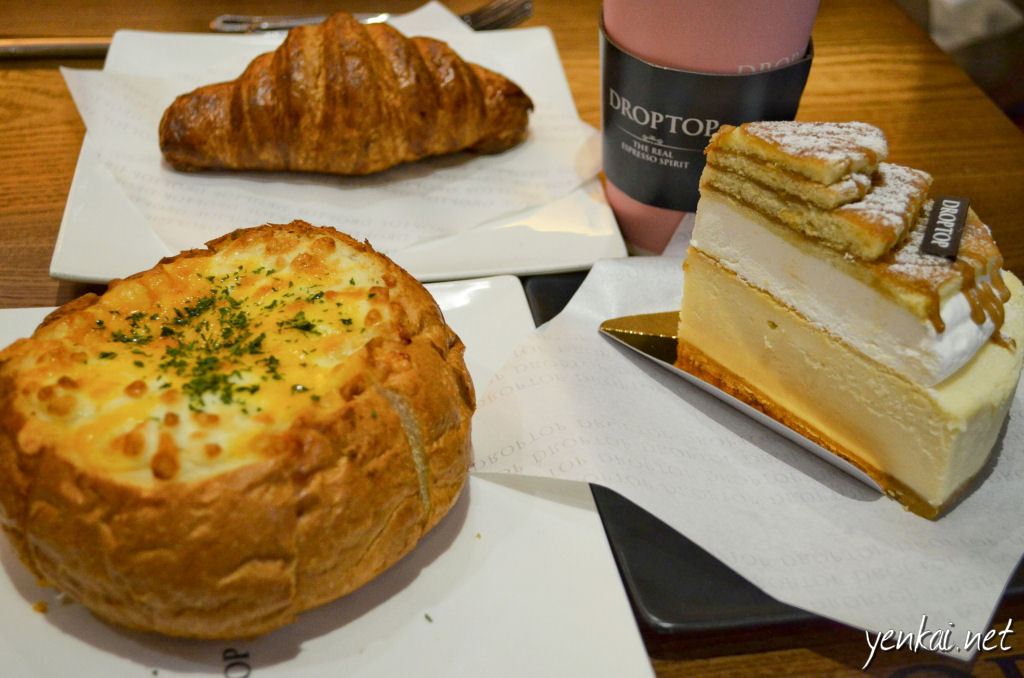 Croissant, cheesecake and garlic crispy ball