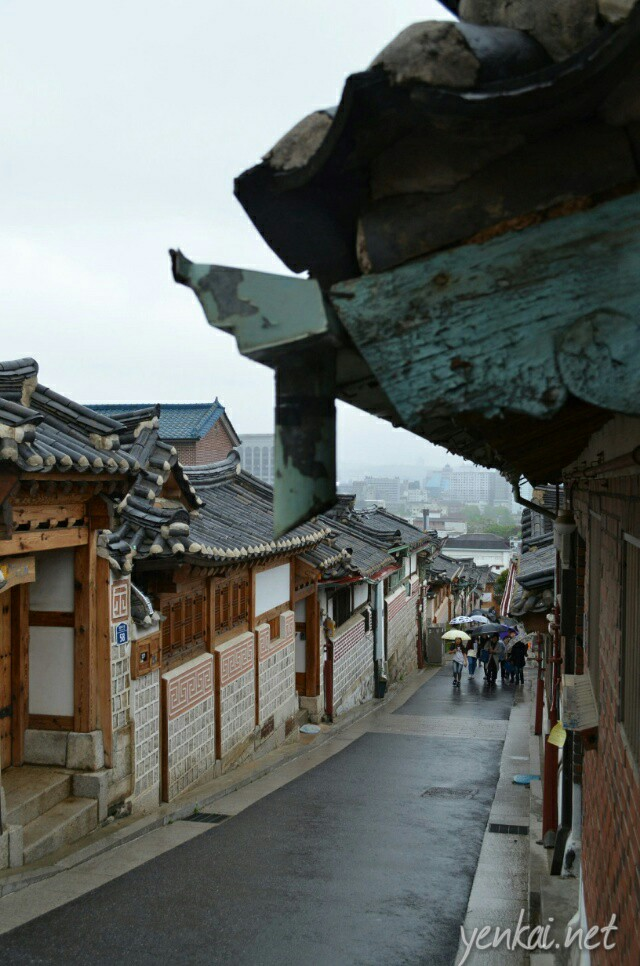 The most dramatic part of Bukchon Hanok Village