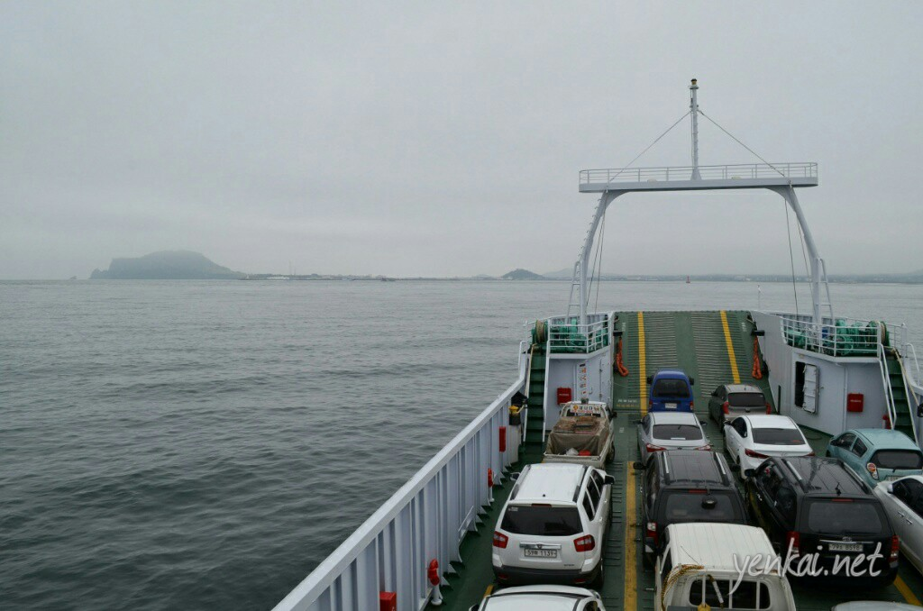 Onboard the ferry heading back to Seongsan
