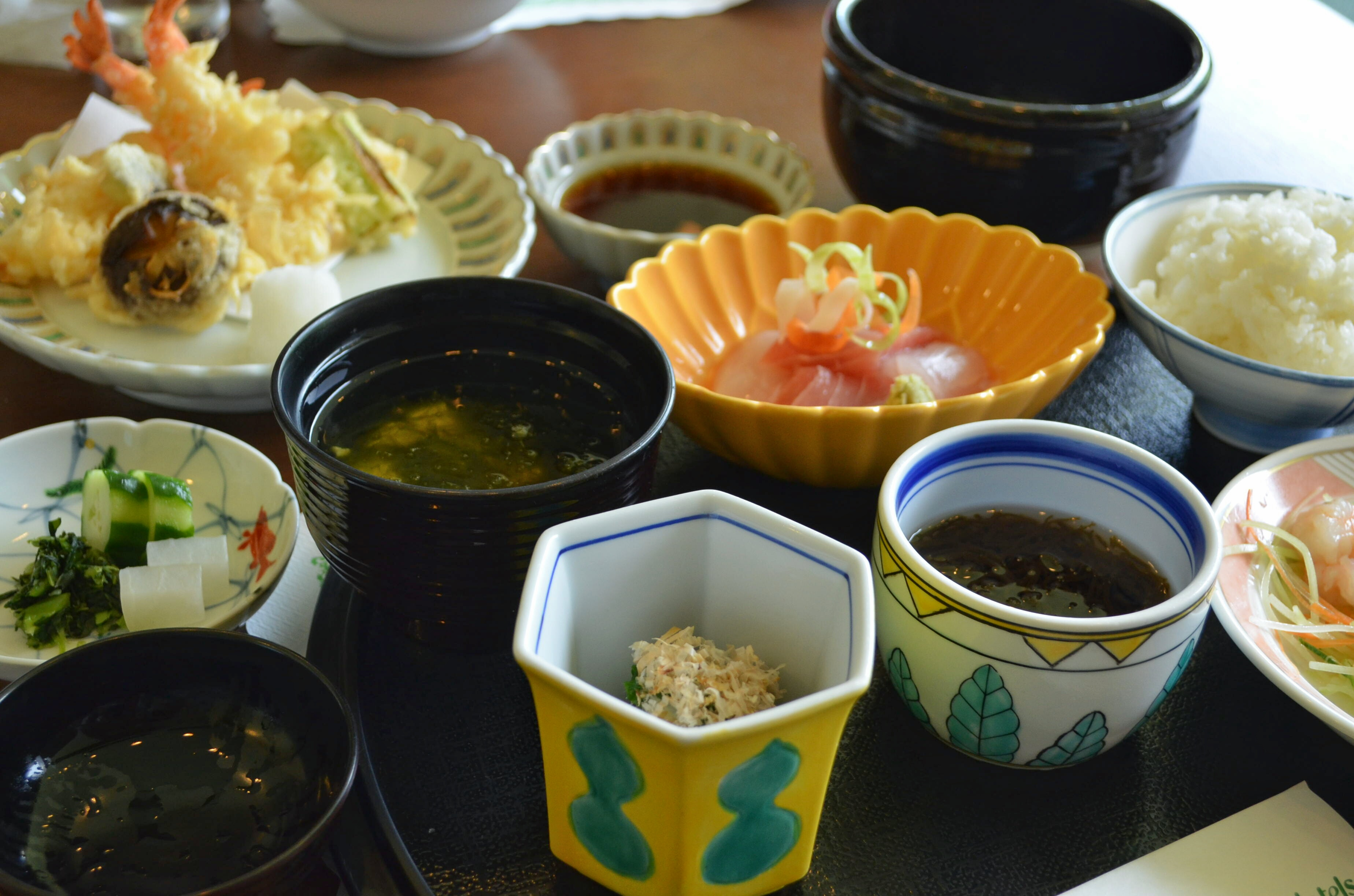 The Japanese set, with dessert as well