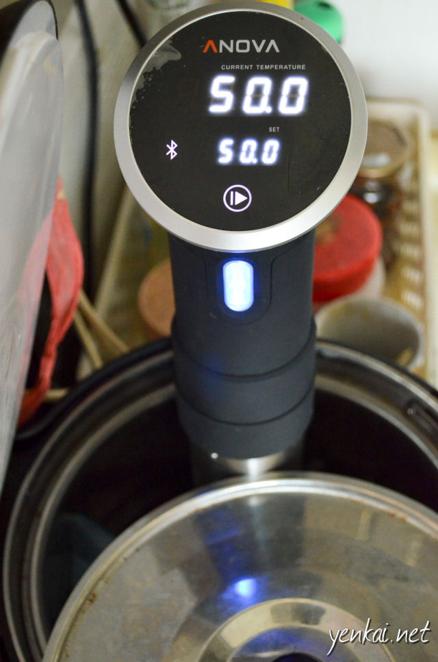 30 minutes of Sous Vide at 50 degrees Celsius