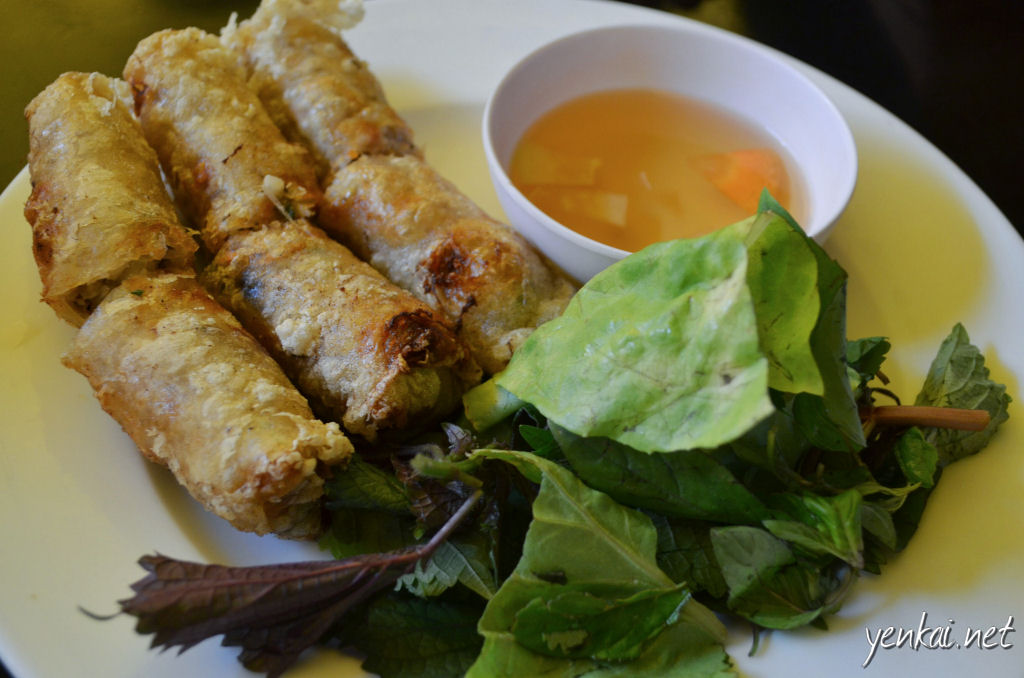 Fried spring rolls. How can one not have spring rolls in Vietnam.