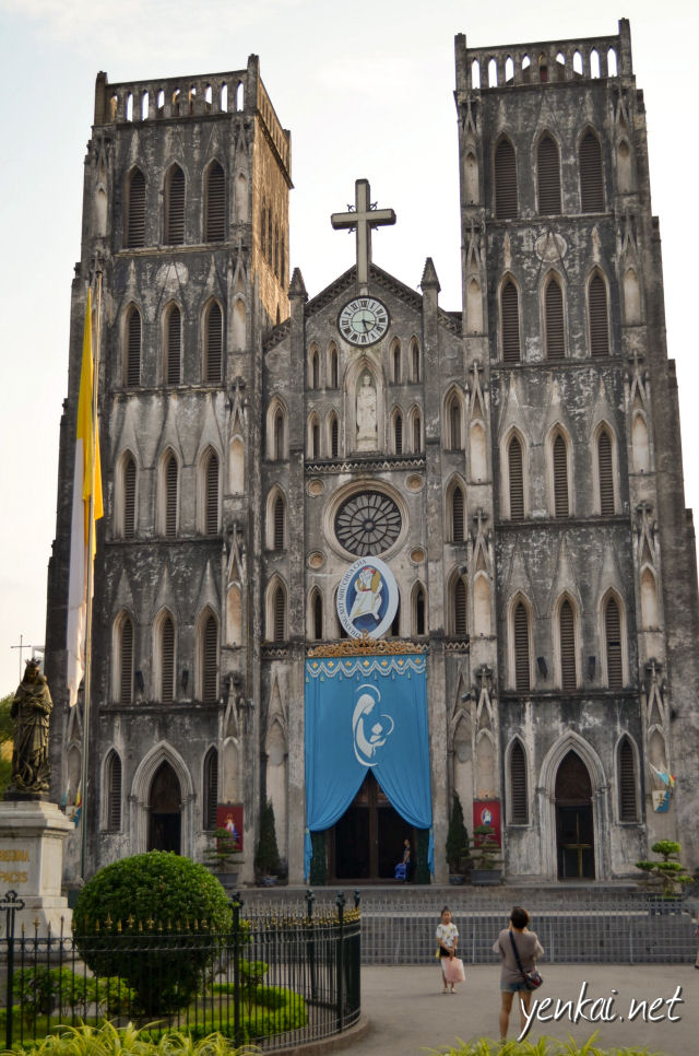 St Joseph's cathedral was just a stone throw away