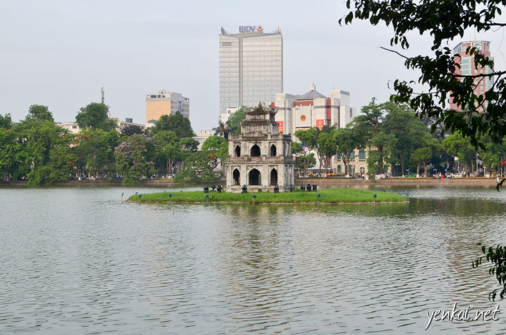 Turtle tower - one of the must-see attraction in Hanoi.
