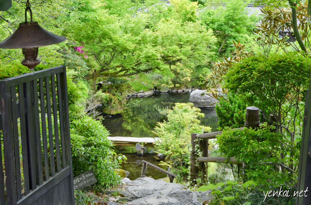 There is keen competition among the Ryokans, and one way they compete is to make the entrance to the Ryokan as welcoming as possible. This is the Hozantei entrance.