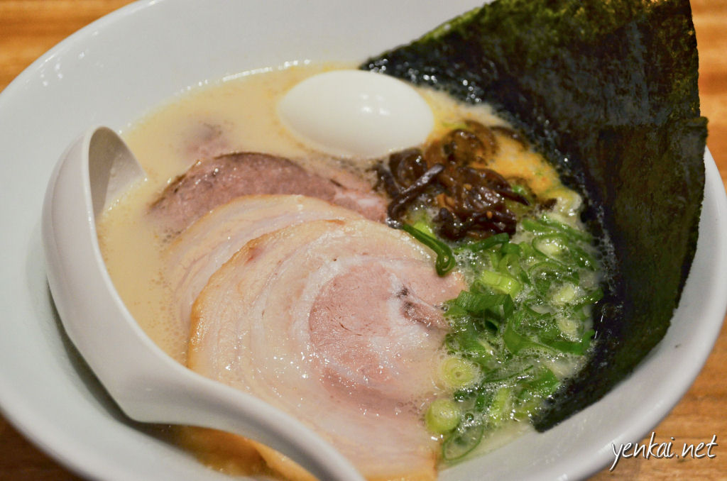 "Ippudo's Tonkotsu Ramen, the most ""balanced"" one. The soup was very creamy but not fatty, The Chashu were soft and just the right thickness. If i had to choose a winner, Ippudo is it!"