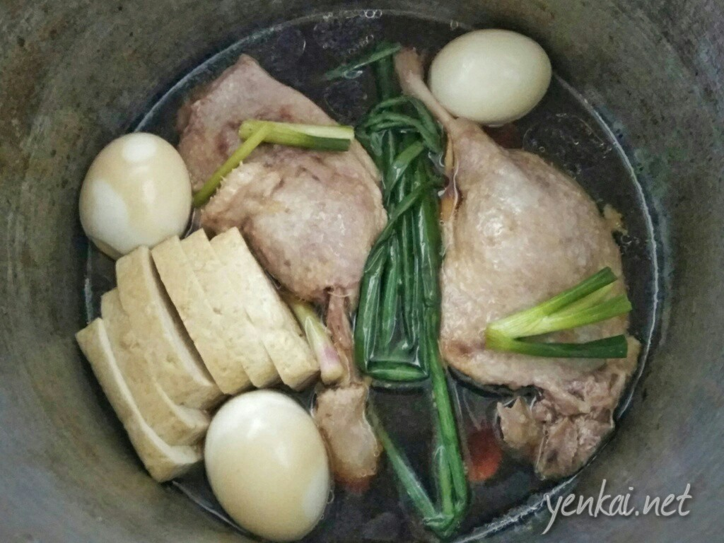 Cooking braised duck