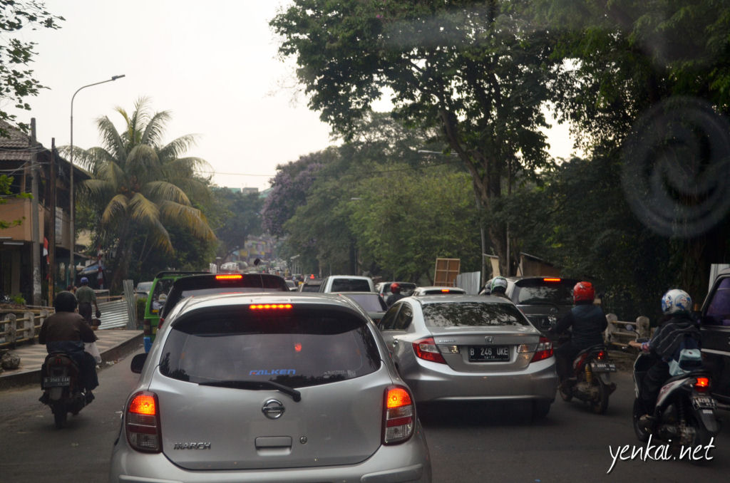 The peak hour macet in Bogor.