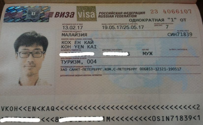 How to get a Russia Tourist Visa in Singapore