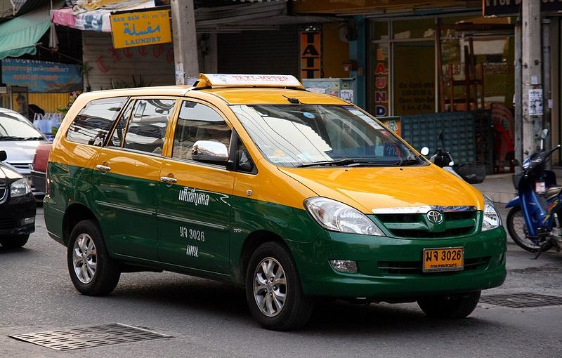 Grabbing a taxi in Bangkok