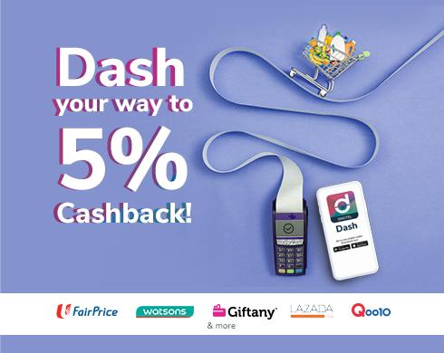 Dash – Cashback king till 30 Sep 2019